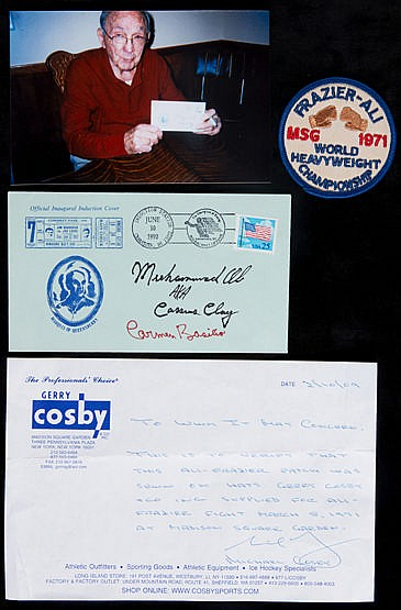 Muhammad Ali & Carmen Basilio double-signed postal cover for the inaug