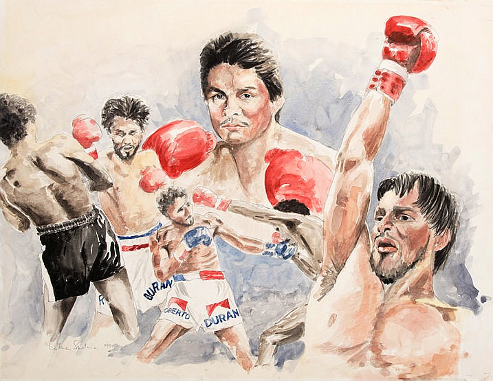 Lukman Sinclair (contemporary Liverpool artist)  ROBERTO DURAN  signed