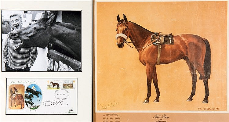 Ginger McCain signed Red Rum print,  signature in pencil, the artwork