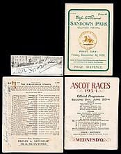The autographs of the jockeys Johnny Longden & Steve Donoghue,  the fo
