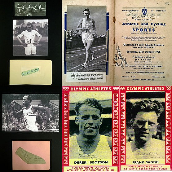 Autographs of 1920-50s GB Olympic & World Record athletes,  i) Harold