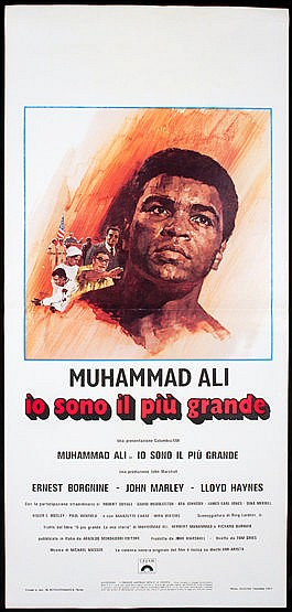 Italian movie poster for the film 'The Greatest' featuring Muhammad Al