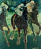 Paul Ambille (French, 1930-2010)  HORSE RACE  signed & dated '72, oil, Paul Gaston Ambille, £360
