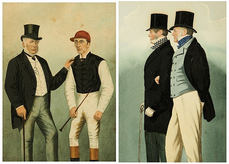 Richard Dighton (1795-1880) FRED ARCHER & LORD FALMOUTH; ADMIRAL ROUS