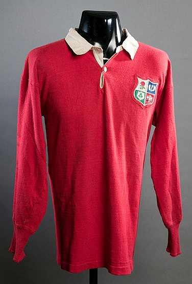 Brian Price red British Lions No.6 rugby union shirt from the tour of