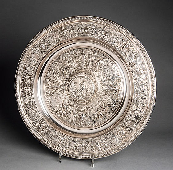 A large Venus Rosewater Dish, the design of which is based upon that o