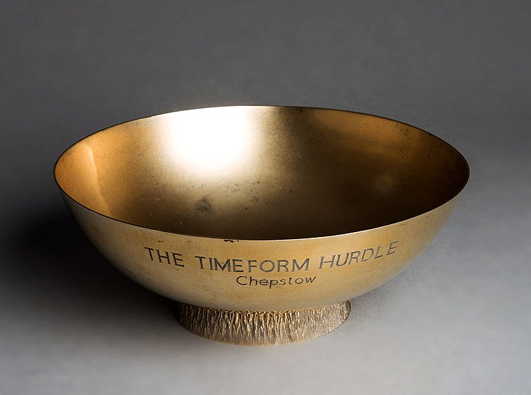 Trophy for The Timeform Hurdle at Chepstow, in the form of a hallmark