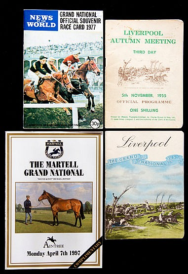 A collection of Grand National racecards,  for 1955, 1957, 1964 to 196