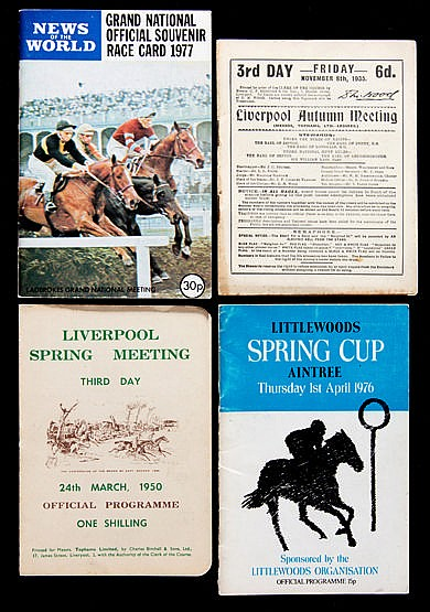 A collection of 48 Aintree racecards,  6 Grand National cards for 1968