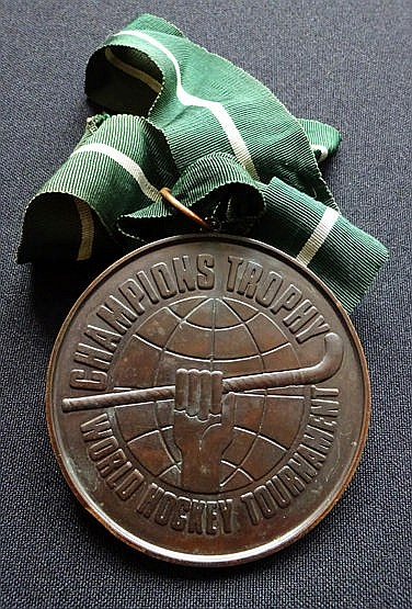 Bronze medal for the 1978 Champions Trophy World Field Hockey Tourname