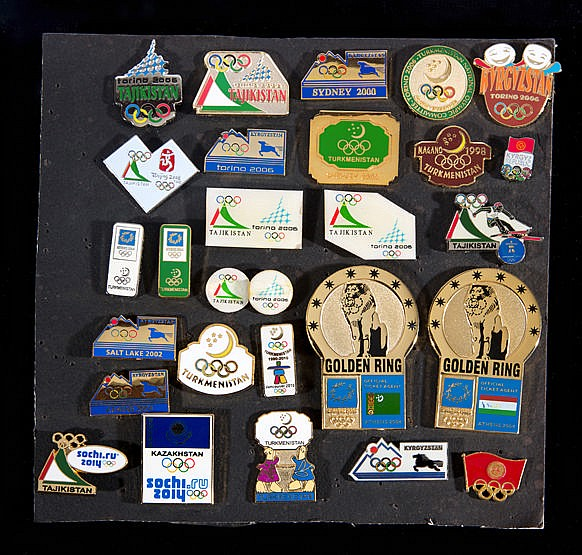 A group of 27 Central Asian countries Olympic team pins,  Turkmenistan