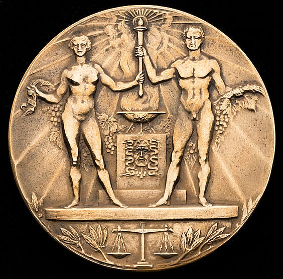 1928 Amsterdam Olympic Games participation medal, in bronze designed
