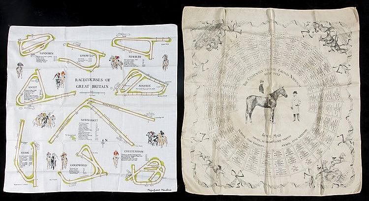 Two gentlemen's racing handkerchiefs, the first commemorating the cen