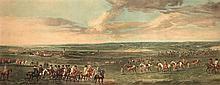 After Peter Tillemans (c.1684-1734) KING GEORGE 1st AT NEWMARKET-1722