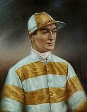 Large and impressive portrait of the champion jockey Steve Donoghue,