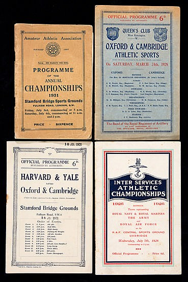 A collection of 22 Athletics programmes from the 1920' and 30's, 4 x
