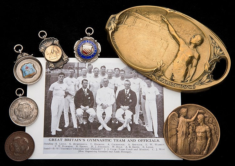 Collection of the British Olympic gymnast Samuel Humphreys, including