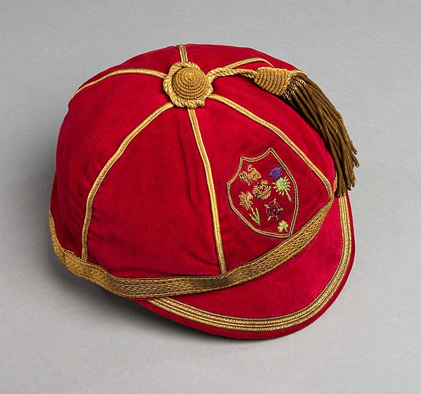 Great Britain 1968 Rugby League World Cup international cap, the red