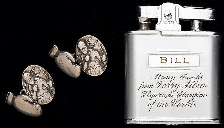 Ronson cigarette lighter originally presented by Terry Allen when reig