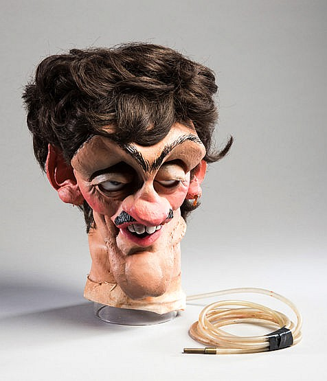 A Spitting Image head puppet of the boxer Barry McGuigan,  from the Br