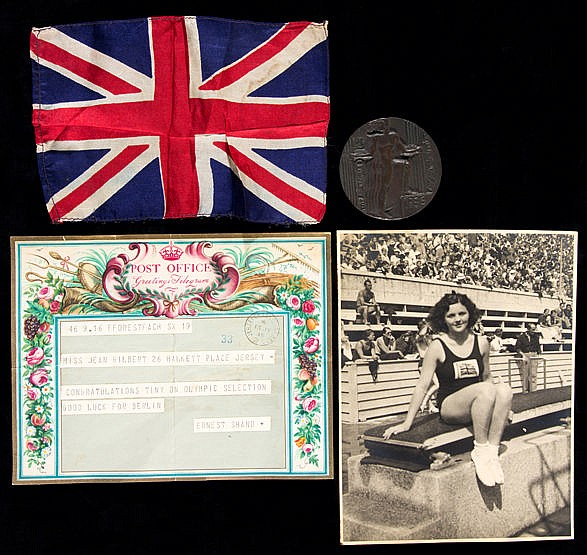 Berlin 1936 Olympic Games memorabilia relating to Jean Gilbert the Bri