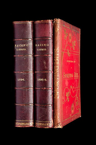 Racing Illustrated.  two bound volumes of the monthly racing magazine,