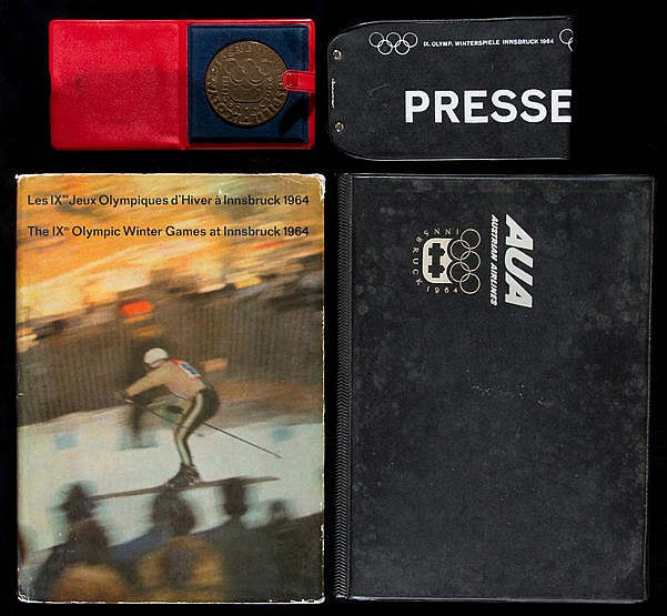 Innsbruck 1964 Winter Olympic Games memorabilia originally in the coll