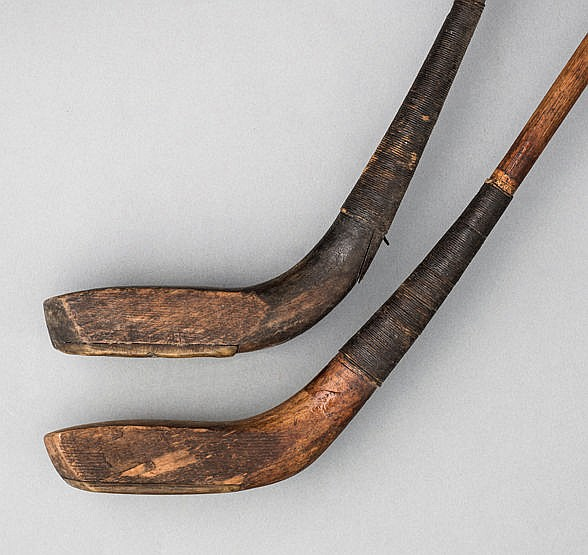 Two scared-neck golf clubs by Andrew Sommerville circa 1900,  a driver
