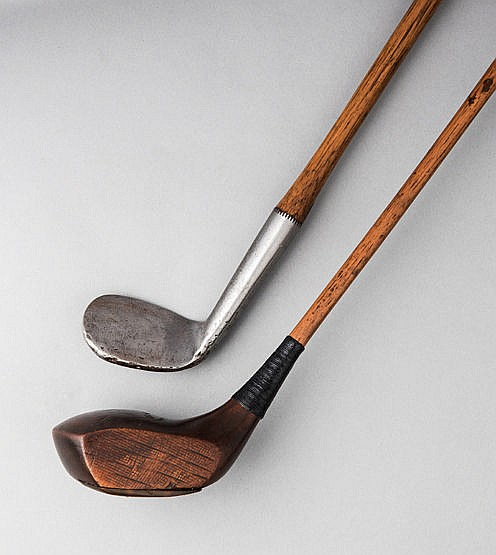 W. Archie Earl, Lincoln GC, anti-torque shaft persimmon headed driver