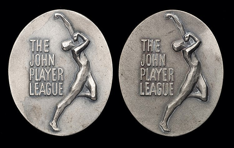 Brian Close John Player League runners-up cricket medals for 1974 and