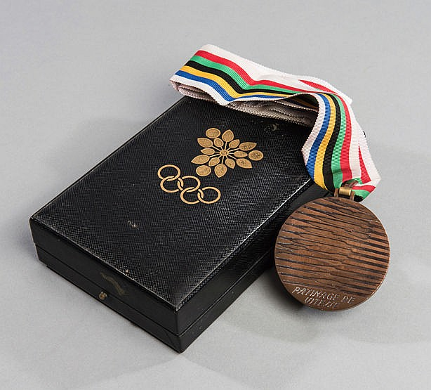 Grenoble 1968 Winter Olympic Games bronze prize medal for long track s