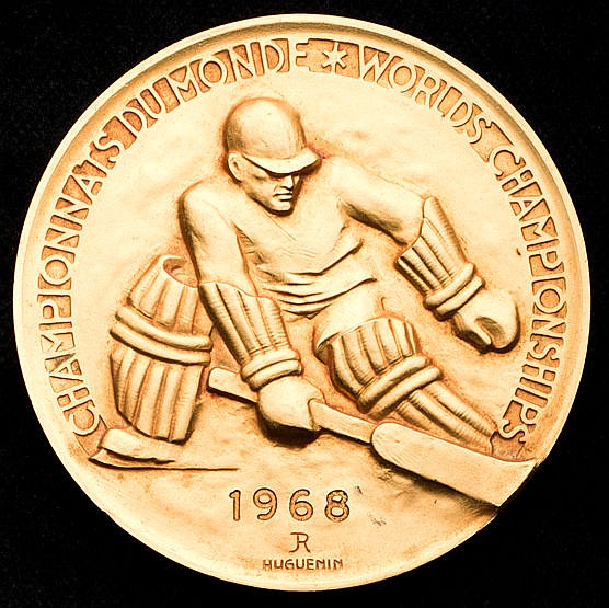Grenoble 1968 World Ice Hockey Championship winner's medal,  awarded t