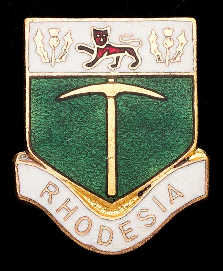 Rhodesia National Olympic Committee badge, gilt-metal, with enamel Br