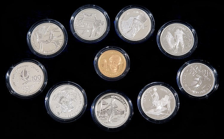 Albertville 1992 Winter Olympic Games Monnaie de Paris coins proof set