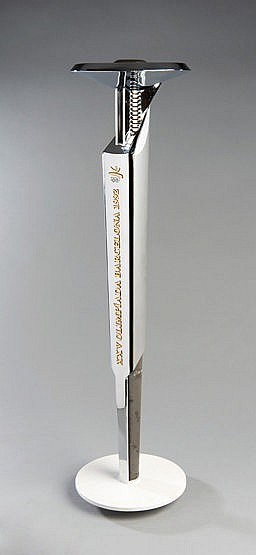 A 1992 Barcelona Olympic Games bearer's torch, designed by Andre Rica