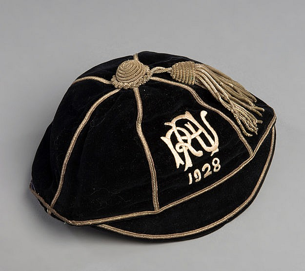 Auckland Rugby Union representative cap 1928,  ARU monogram and dated