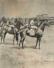 Frank Algernon Stewart (1877-1945)  THE DERBY 1925: MANNA S.DONOGHUE,