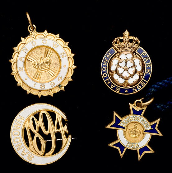 Two groups of Sandown Park badges, for the years 1894 & 1895, i) 1894