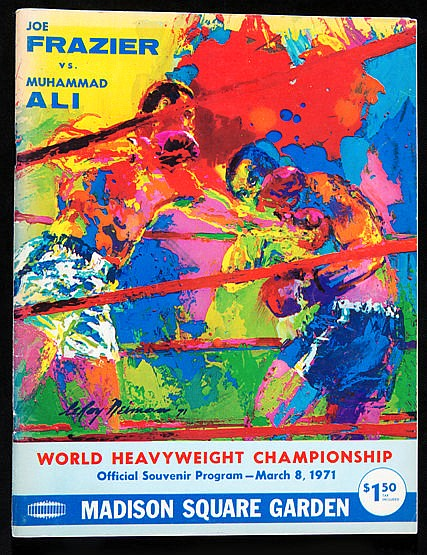 Muhammad Ali v Joe Frazier official fight programme, Madison Square Ga