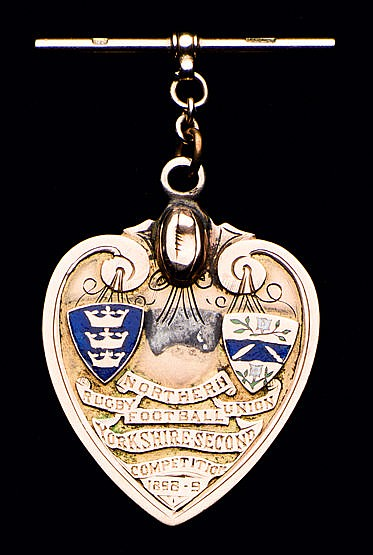 Sammy Morfitt 9ct. gold & enamel Northern Rugby Football Union Yorkshi