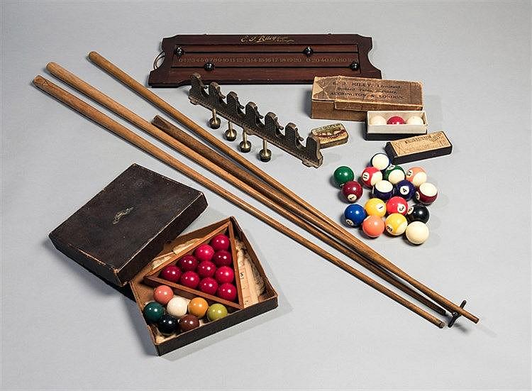 Snooker & Billiards equipment,  comprising a set of miniature snooker