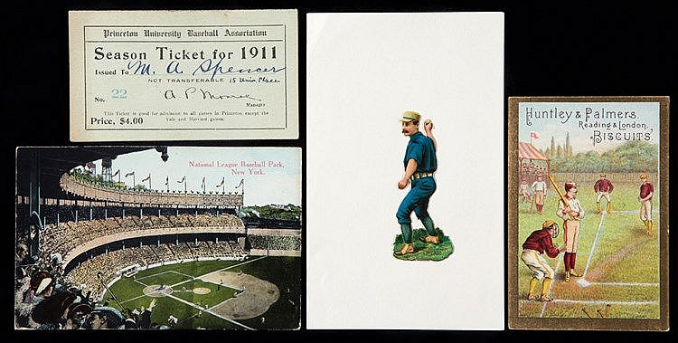 Baseball ephemera circa 1905, postcard of the National League Basebal