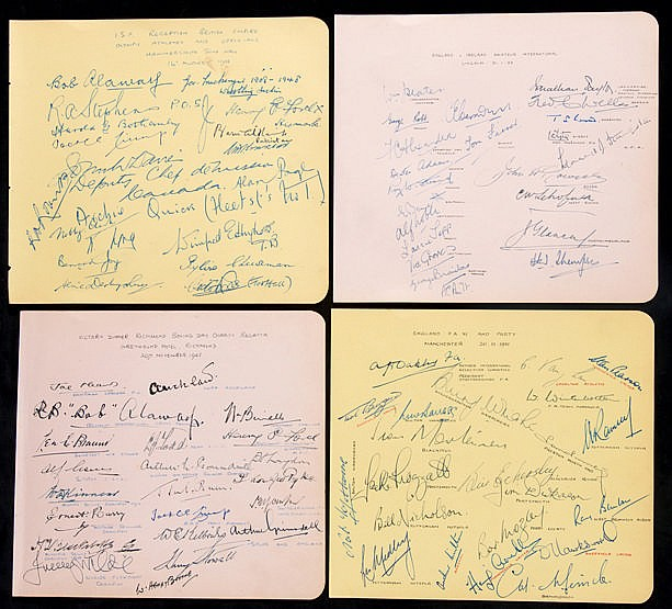 Sports autographs collection circa mid-1940s-mid-1950s,  on pages remo