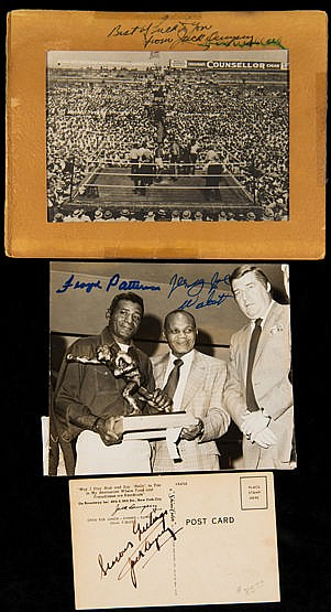 Jack Dempsey and Jess Willard double-signed brochure,   the brochure p