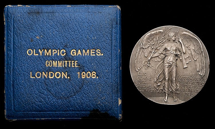 London 1908 London Olympic Games committee member's participation meda