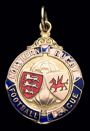 9ct. gold & enamel Northern Rugby Football League winner's medal 1938-