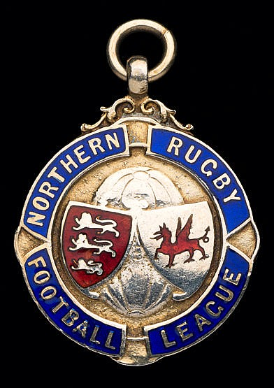 Silver-gilt & enamel Northern Rugby Football League winner's medal 195
