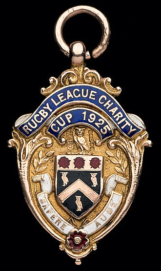 Highly unusual double-sided gold & enamel medal for the Rochdale & Old