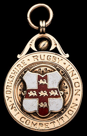 Hull Kingston Rovers 1897 Yorkshire Cup winner's medal,  9ct. gold & e