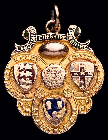 Rugby League Challenge Cup winner's medal, 9ct. gold & enamel, inscri